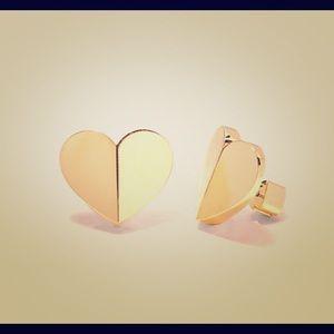 New Kate Spade Heart Stud Earrings